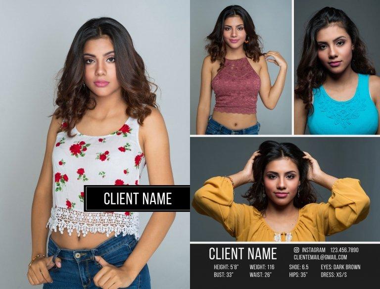 Comp Card Template: Photoshop